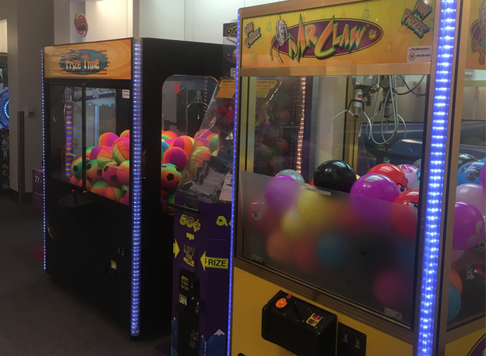 Kids Hangout & Game Section at Roll N Fun Zone at South Bay Galleria Mall