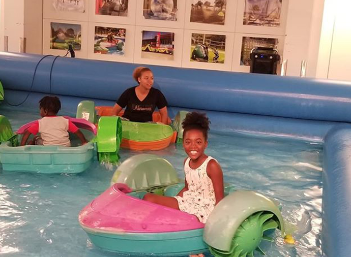 Image of Instagram Customers riding Roll N Fun Zone paddle roller boats