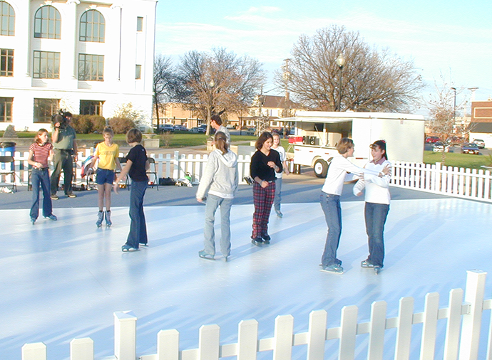 Ice Skating, Ice Curling, Snow party rentals. Rental fake ice skating rink