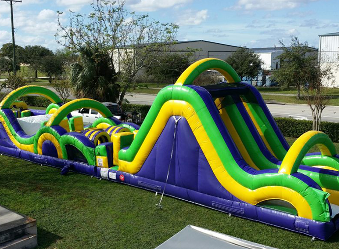Emerald Events Radical Run, Jungle, Backyard Toddler, Sports, Bootcamp, Castle, Extreme Rush Obstacle Course inflatable kids party rentals