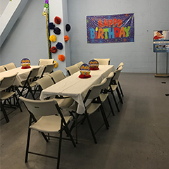 Roll 'N Fun Zone Party Room for Private Birthday Parties